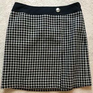 Navy Honeycomb Skirt